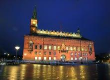 哥本哈根市政厅 免版税库存照片