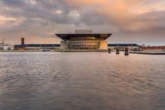 哥本哈根歌剧院的看法在哥本哈根 图库摄影