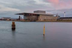 哥本哈根歌剧院的看法 免版税库存图片
