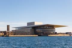 哥本哈根歌剧院的看法 库存照片