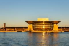 哥本哈根歌剧院的看法 库存图片