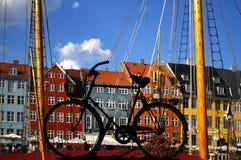 哥本哈根港口新的nyhavn 库存照片