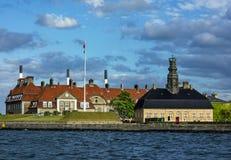 哥本哈根港口 免版税库存照片