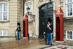 哥本哈根皇家卫兵 免版税库存图片