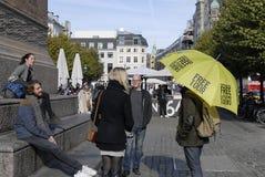 哥本哈根自由徒步游览 免版税库存图片
