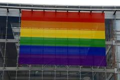 哥本哈根自豪感和彩虹颜色庆祝 库存图片