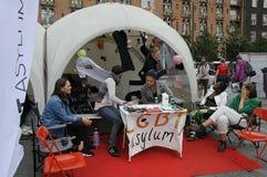 哥本哈根自豪感20年庆祝 库存照片