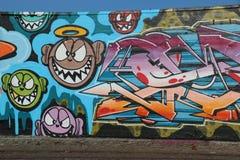 哥本哈根街道画墙壁 免版税库存照片