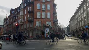 哥本哈根街道 库存照片