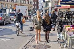 哥本哈根街道 库存图片