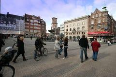 哥本哈根街道 免版税库存图片