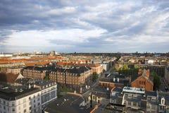 哥本哈根视图从上面 图库摄影