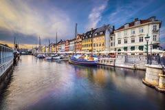 哥本哈根运河 库存照片