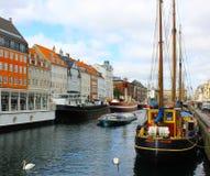 哥本哈根运河  免版税库存照片