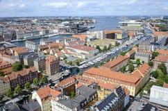 哥本哈根都市风景 免版税库存照片