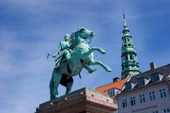 哥本哈根雕象 免版税库存照片