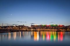 哥本哈根霓虹灯 库存图片