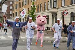 哥本哈根马拉松2013年 免版税图库摄影