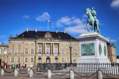 """哥本哈根,丹麦†""""2016年8月15日:弗雷德里克雕塑  免版税库存照片"""