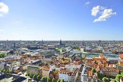 哥本哈根,丹麦的看法 免版税库存图片