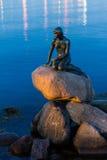 哥本哈根,丹麦-小的美人鱼HDR 库存图片