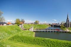 哥本哈根,丹麦- 2017年4月30日:从Kastellet fo的看法 库存图片