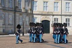 哥本哈根,丹麦- 2017年4月30日:在铈期间的皇家卫兵 库存图片