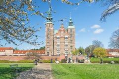 哥本哈根,丹麦- 2017年4月30日:Rosenborg宫殿是里纳 库存图片
