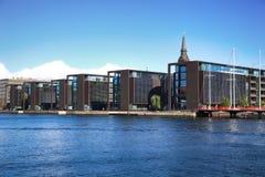 哥本哈根,丹麦- 2016年8月16日:在Copen的美丽的景色 免版税库存图片