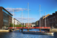 哥本哈根,丹麦- 2016年8月16日:在m的美丽的景色 免版税库存照片
