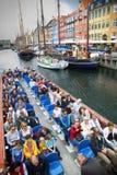 哥本哈根,丹麦- 2016年8月14日:游人享用和视域 免版税库存图片