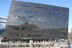 哥本哈根,丹麦- 2016年8月16日:黑金刚石,哥本哈根皇家图书馆Det Kongelige Bibliotek是全国l 免版税库存照片