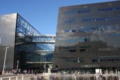 哥本哈根,丹麦- 2016年8月16日:黑金刚石,哥本哈根皇家图书馆Det Kongelige Bibliotek是全国l 免版税图库摄影