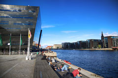哥本哈根,丹麦- 2016年8月16日:黑金刚石, 图库摄影