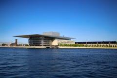 哥本哈根,丹麦- 2016 8月15,哥本哈根歌剧院 免版税库存图片