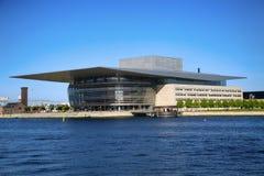 哥本哈根,丹麦- 2016 8月15,哥本哈根歌剧院 免版税库存照片