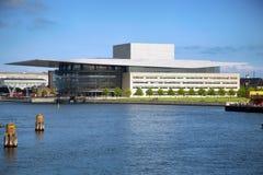 哥本哈根,丹麦- 2016 8月15,哥本哈根歌剧院 库存照片