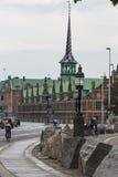 哥本哈根,丹麦- 9月8 :旧库存交换大厦 免版税库存图片