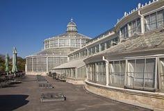 哥本哈根,丹麦-植物园的温室 库存图片