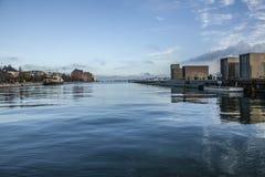 哥本哈根,丹麦-蓝天和海 免版税库存照片