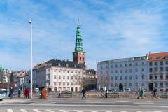 哥本哈根 丹麦 市中心视图 免版税图库摄影