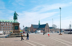 哥本哈根 丹麦 弗雷德里克VII国王雕象 免版税图库摄影