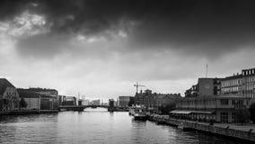 哥本哈根- 2016年10月23日:对市的一个看法哥本哈根 图库摄影