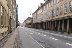 哥本哈根- 2016年10月23日:对画廊通过和某一Cyclers的一个看法 库存照片