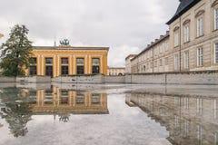 哥本哈根- 2016年10月23日:对Thorvaldsen博物馆的一个看法 库存图片