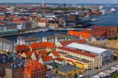 哥本哈根 空中城市视图 免版税库存照片