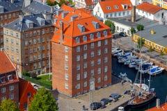 哥本哈根 空中城市视图 免版税图库摄影