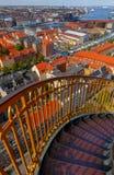 哥本哈根 空中城市视图 免版税库存图片
