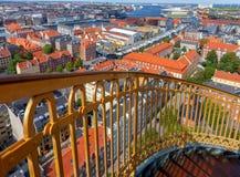 哥本哈根 空中城市视图 库存图片