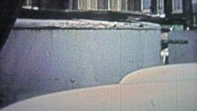 哥本哈根- 1966年:卖第2个手商品和服务的室外市场 影视素材